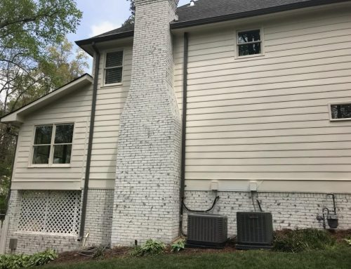 Limewash Painted Brick – Before and After
